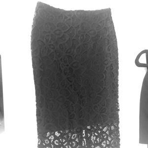 Zara flowery detail pencil skirt